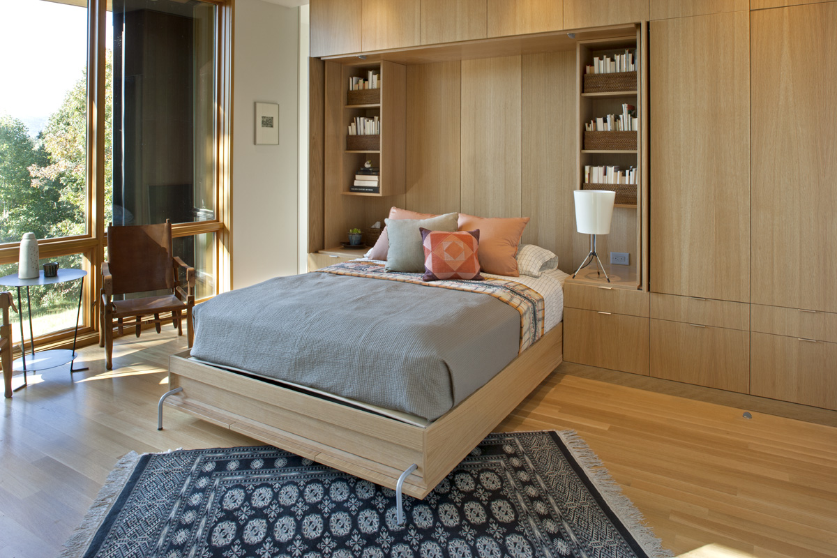 Built in Rift Sawn White oak Murphy Bed with nightstands
